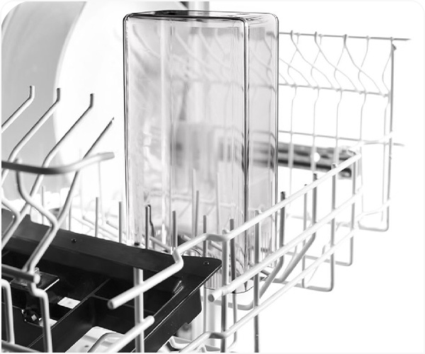 All components of the milk preparation system are dishwasher-safe.