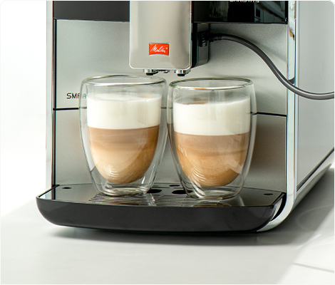 2 portions of milk-based drinks simultaneosly