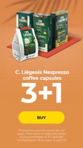 C. Liégeois Nespresso coffee capsules 3+1
