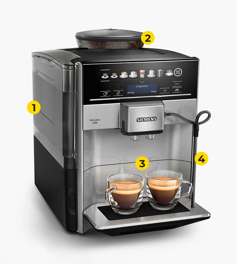 Technical advantages of the coffee machine