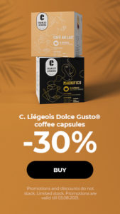 C. Liégeois Dolce Gusto® coffee capsules -30%