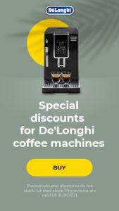 Special discounts for De'Longhi coffee machines