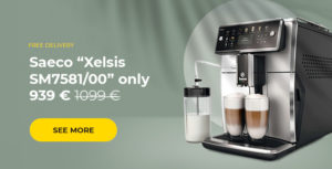 """Saeco """"Xelsis SM7581/00"""" coffee machine only 939 €"""