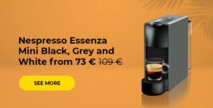 Nespresso Essenza Mini Black, Grey and White from 73 € 109 €