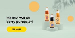 Mashie 750 ml berry purees 2+1