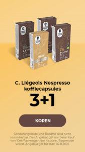 C. Liégeois Nespresso koffiecapsules 3+1
