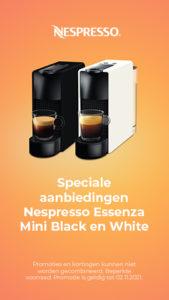 Speciale aanbiedingen Nespresso Essenza Mini Black en White