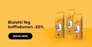 Bialetti 1kg koffiebonen -20%