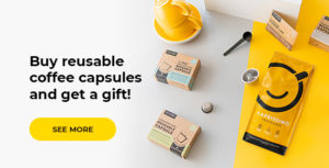 Reusable coffee capsules + gift